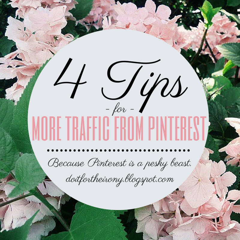 4 Tips For More Blog Traffic From Pinterest, doitfortheirony, how to get more followers on pinterest, how to get more traffic from pinterest, more repins, pins, group board, blogging group boards, fashion, pinterest guru