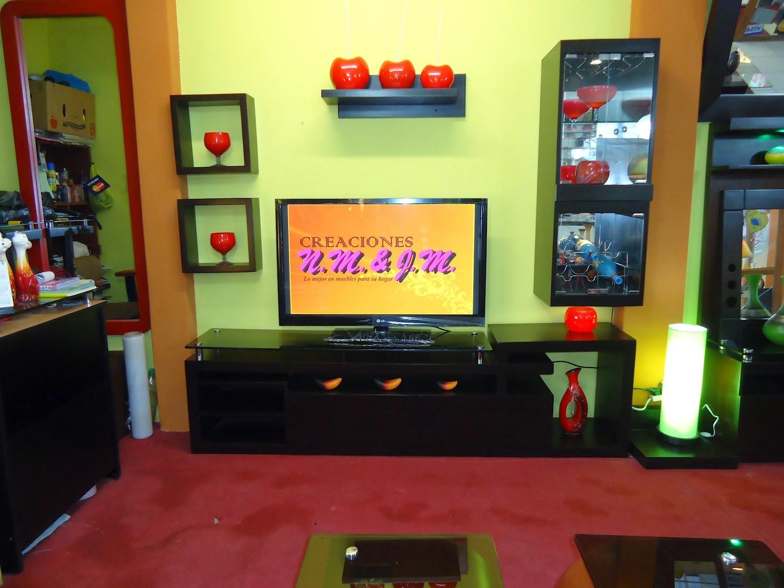 Creaciones n m j m muebles de tv for Mueble organizador de 9 cubos