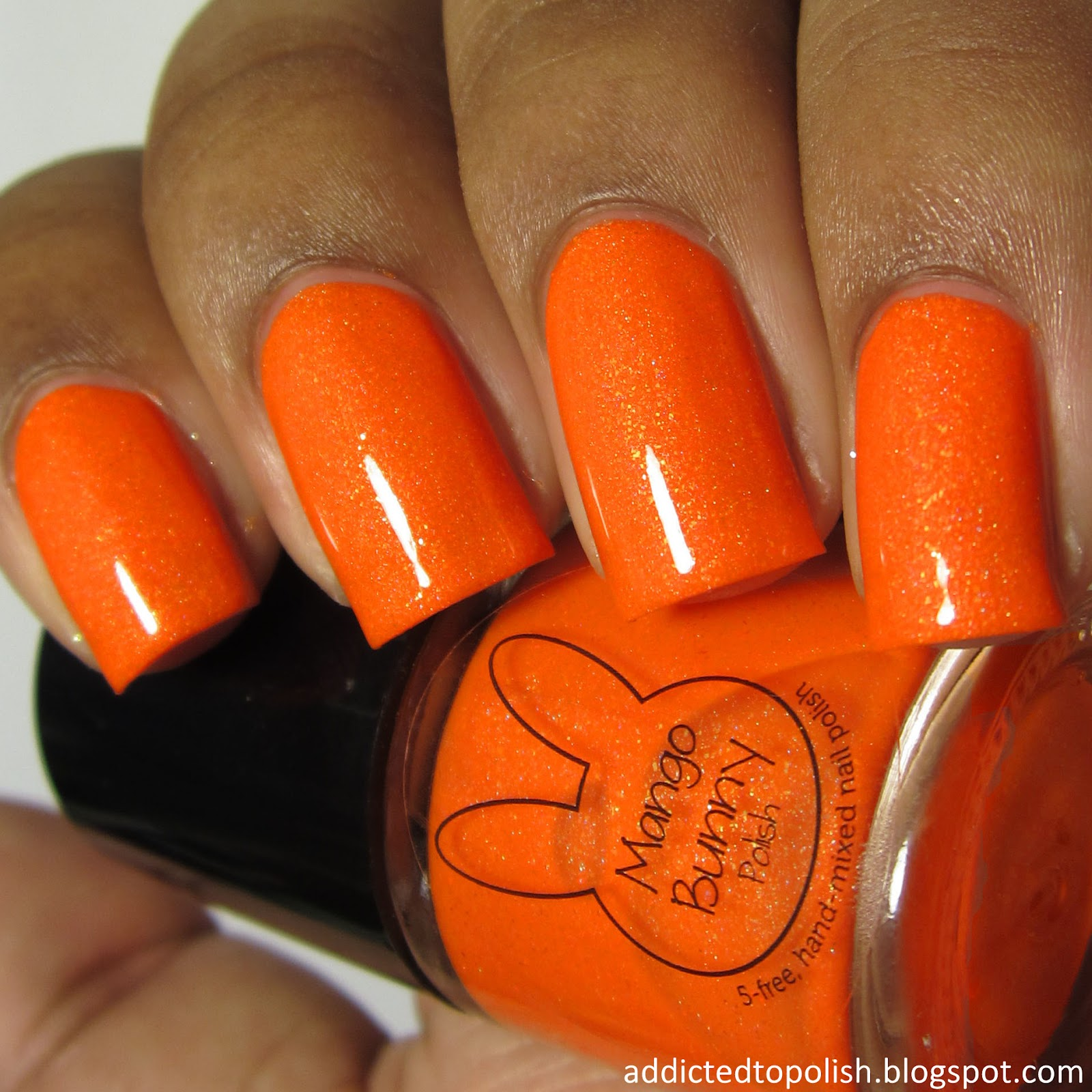 mango bunny polish come to papapya sunkissed neons