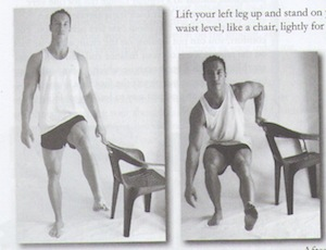 One legged squats