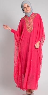 Contoh Dress Muslim Kaftan Terbaru 2015