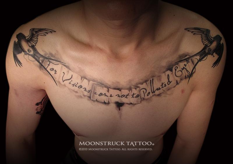 Tattoos for men writing