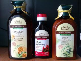 Recenzje Green Pharmacy: szampon, balsam i olejek