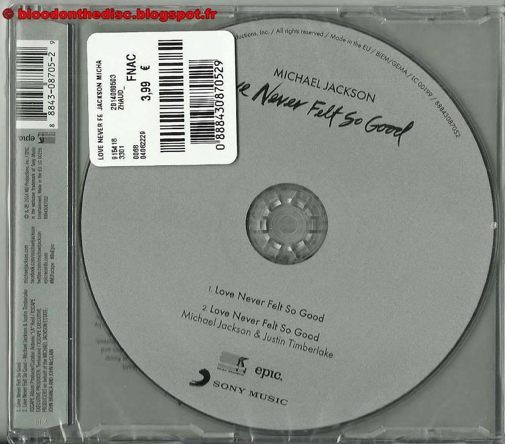 Love Never Felt So Good CD