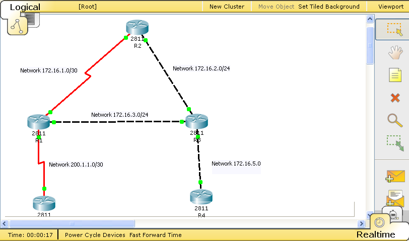 how to show routing table packet tracer