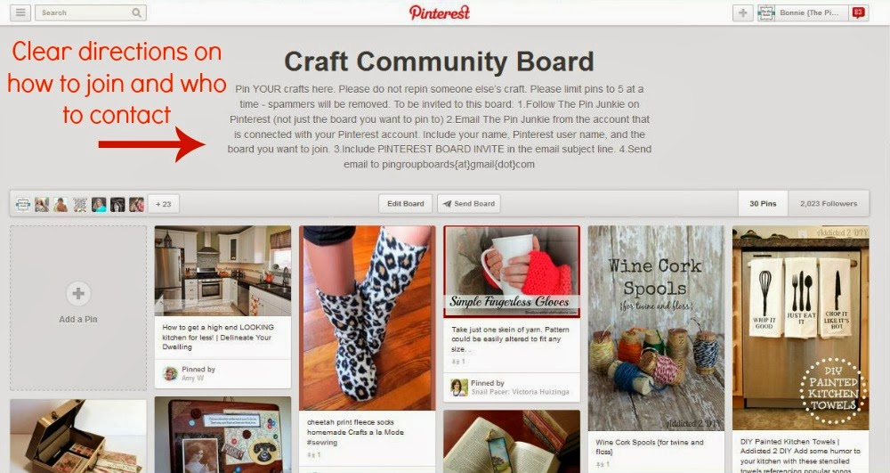 How to join a Pinterest group board