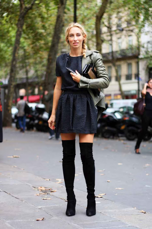 secret black knee high boots style
