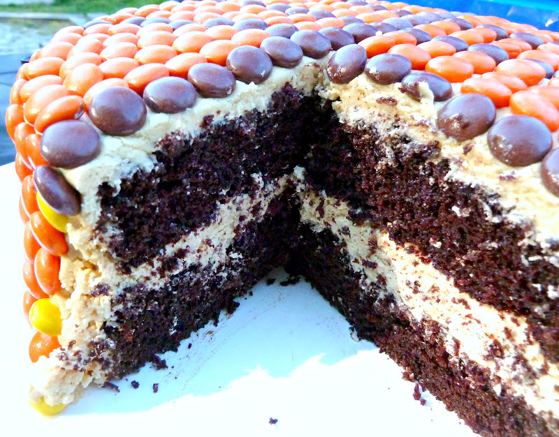 ... Divine Delights: Chocolate Cake and Fluffy Peanut Butter Frosting