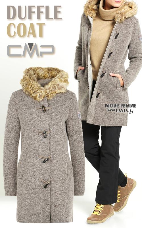 Duffle coat femme beige CMP