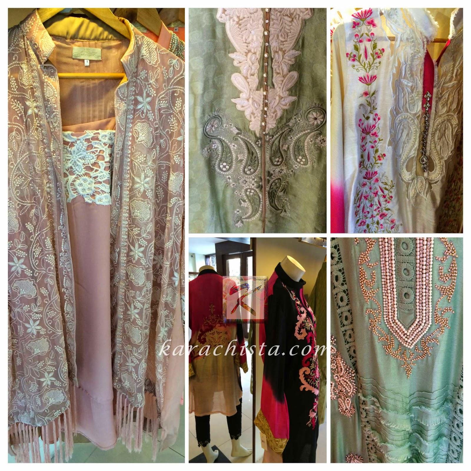 chiffon silk net, jackets by ayesha somaya
