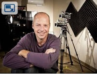 Picture of Sebastian Thrun in his studio.