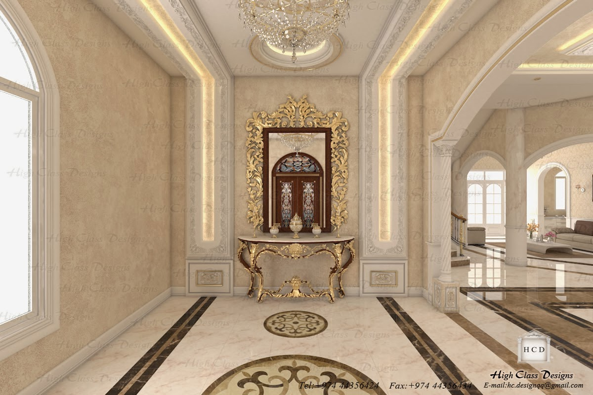High class designs classic design of luxury villa for Classic house interior design