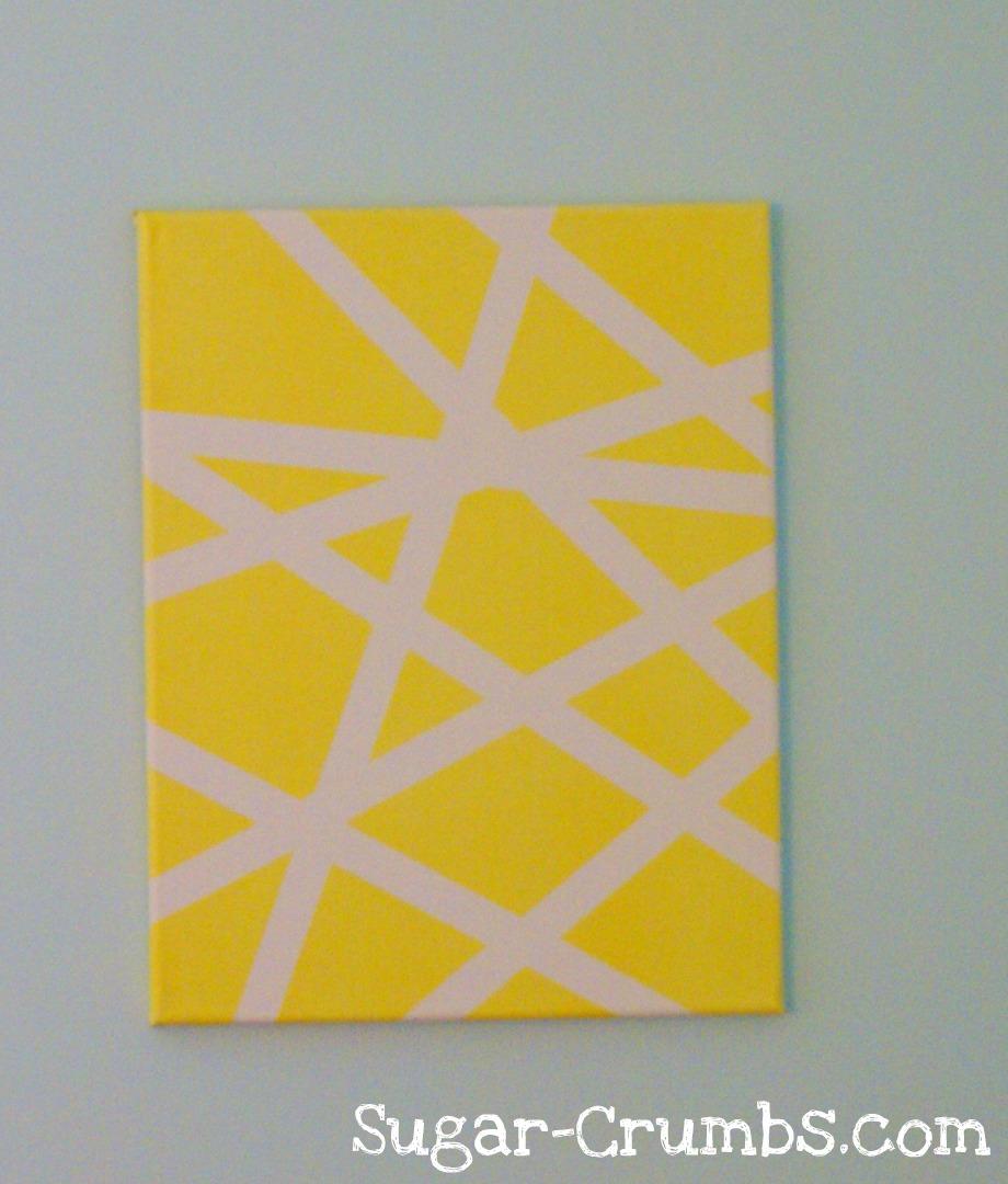 Sugar Crumbs: Pinterest Pick: Masking Tape Wall Art