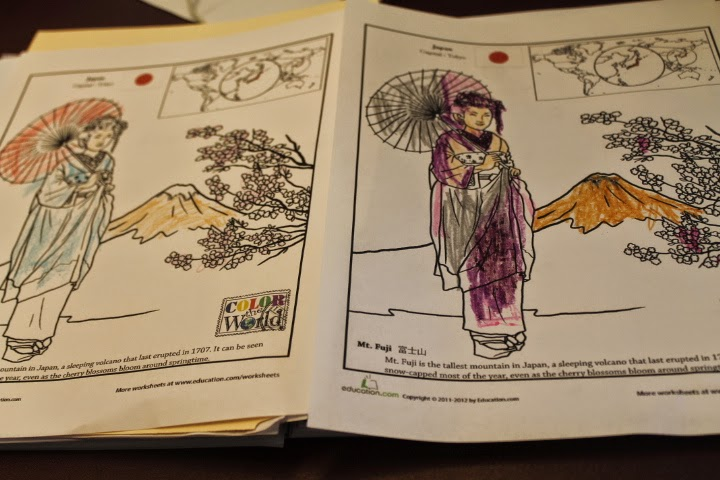 Mt. Fuji coloring page