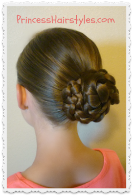 Triple braid bun tutorial, easy and quick