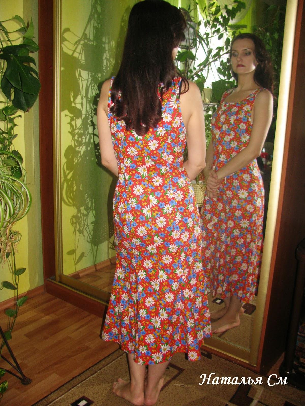 Как сшить платье из ситца фото