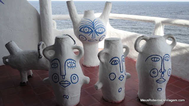Esculturas Carlos Paéz Vilaró na Casapueblo - Punta del Este, Uruguai