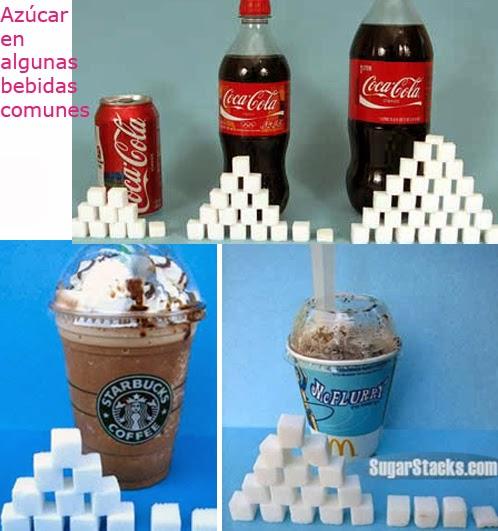 azucar en bebidas
