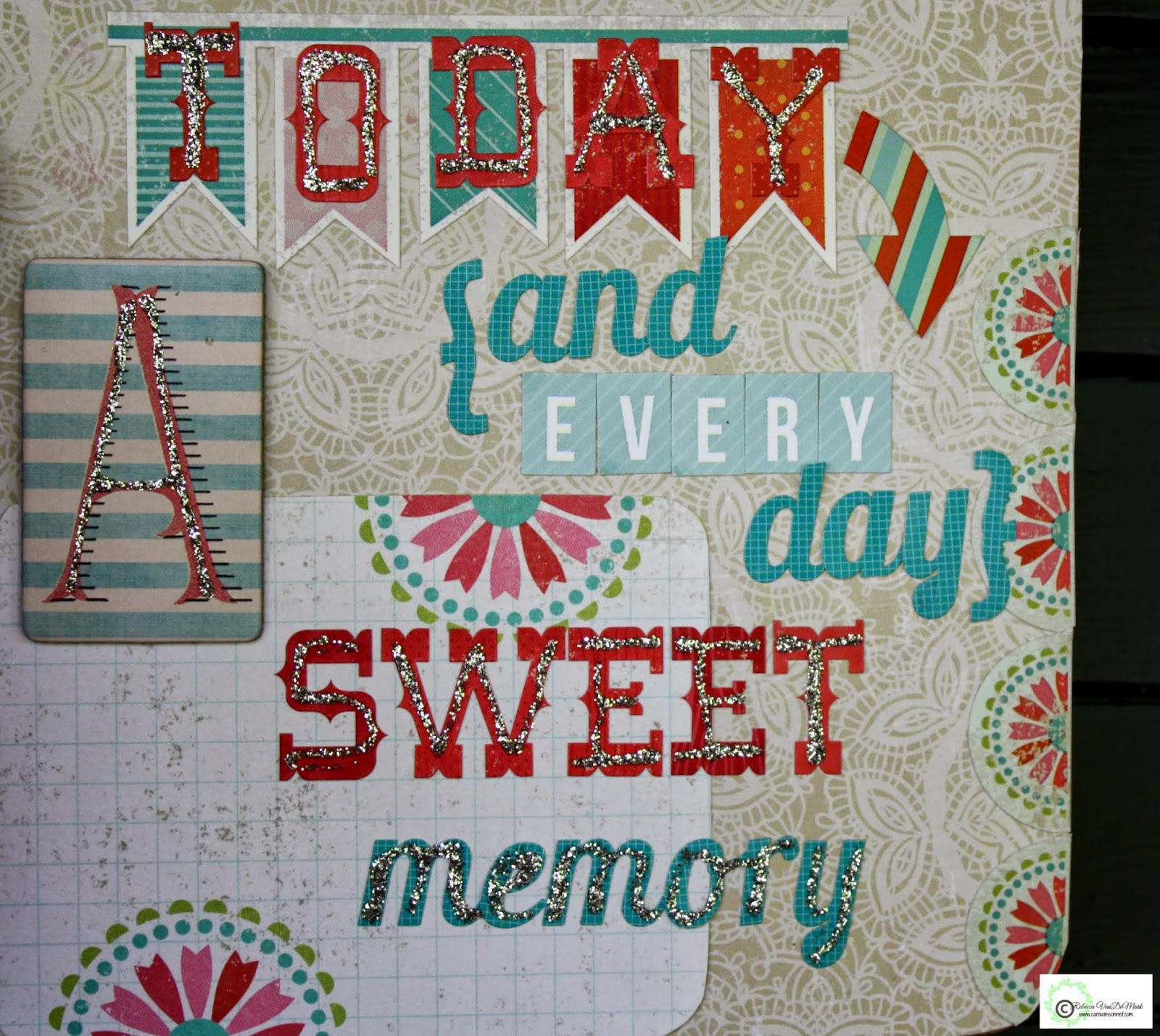 Using fun paper lovely letters and wonderful