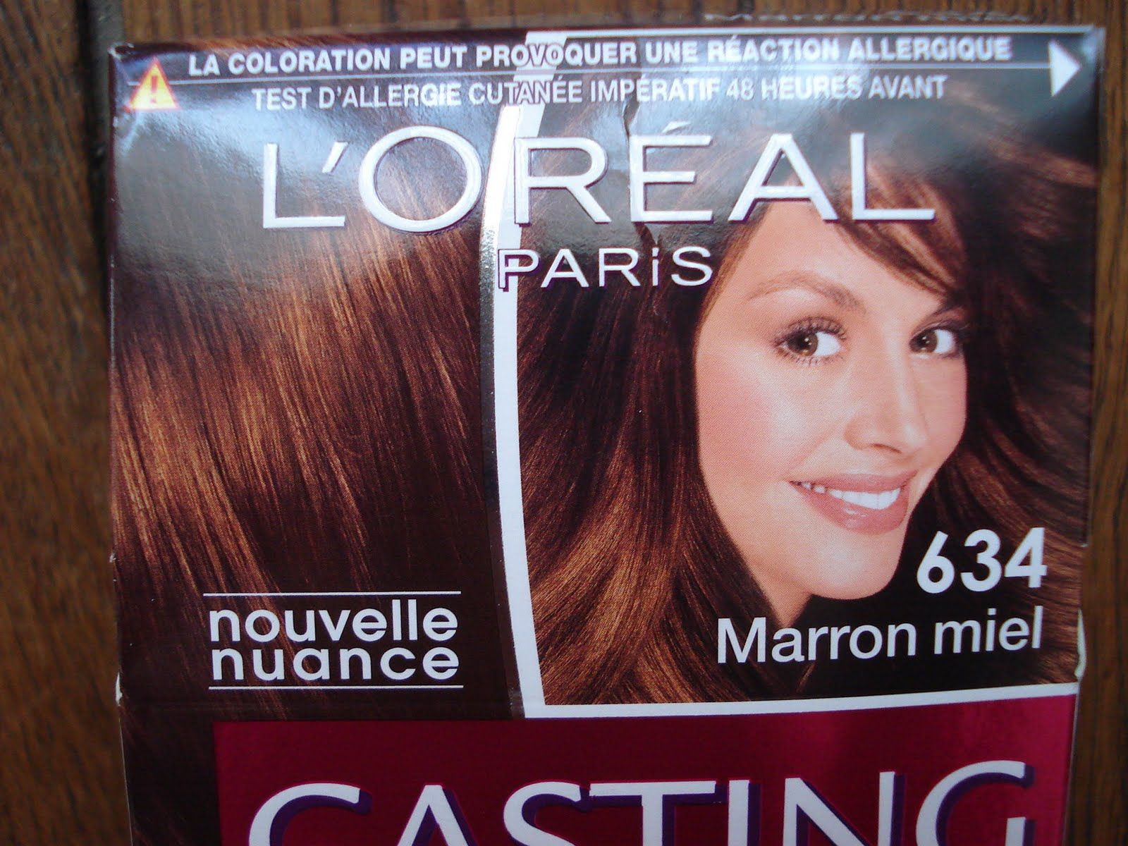 Coloration cheveux test allergie