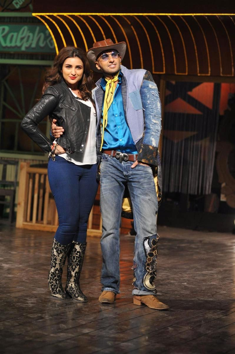 parineeti chopra - ranvir singh- kill dil movie promotions
