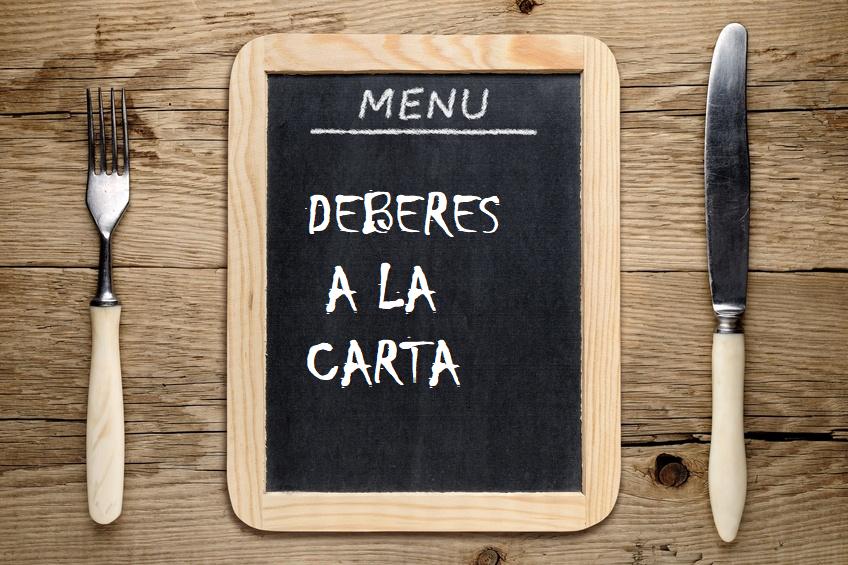 DEBERES A LA CARTA