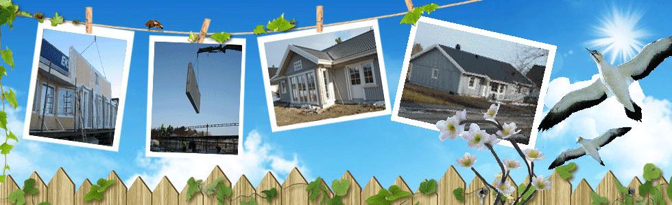 Eksjöhus 1-plans hus Lyckan med vinkel, nybyggnation-