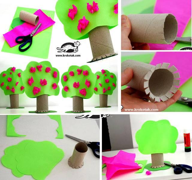 Extremamente Artesanatos: Árvore feita de rolo de papel higiênico UH48