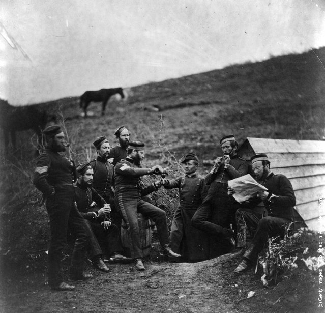 drink together in the lines before Sebastopol during the Crimean ...
