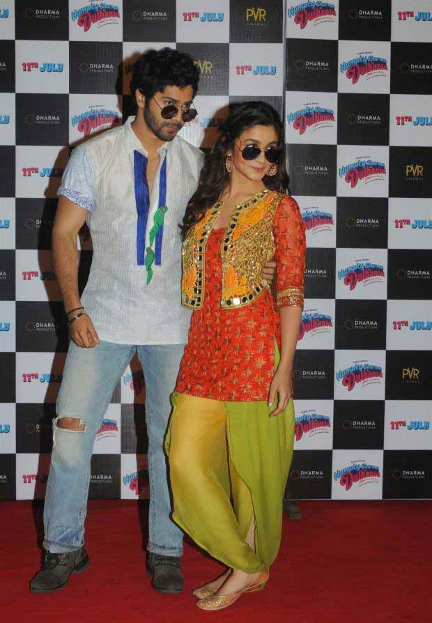 Varun Dhawan and Alia Bhatt at Humpty Sharma Ki Dulhania trailer launch