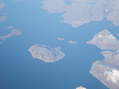 aerial photo, greenland coast line
