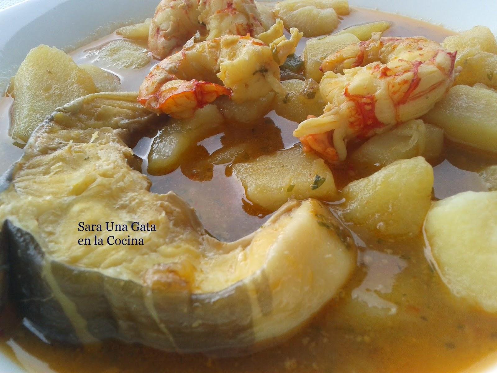 Patatas Con Congrio Y Gambones