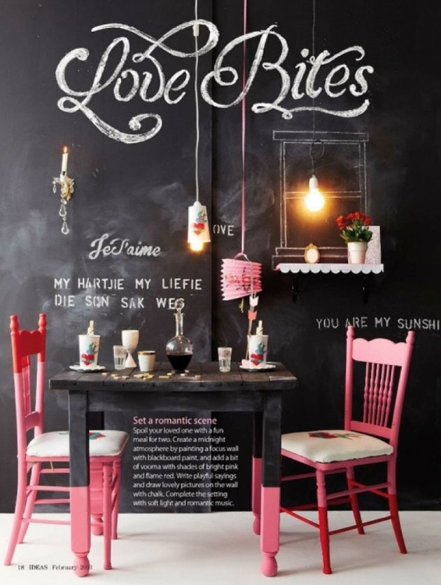 amazing dinning room chalkboard wall paint ideas