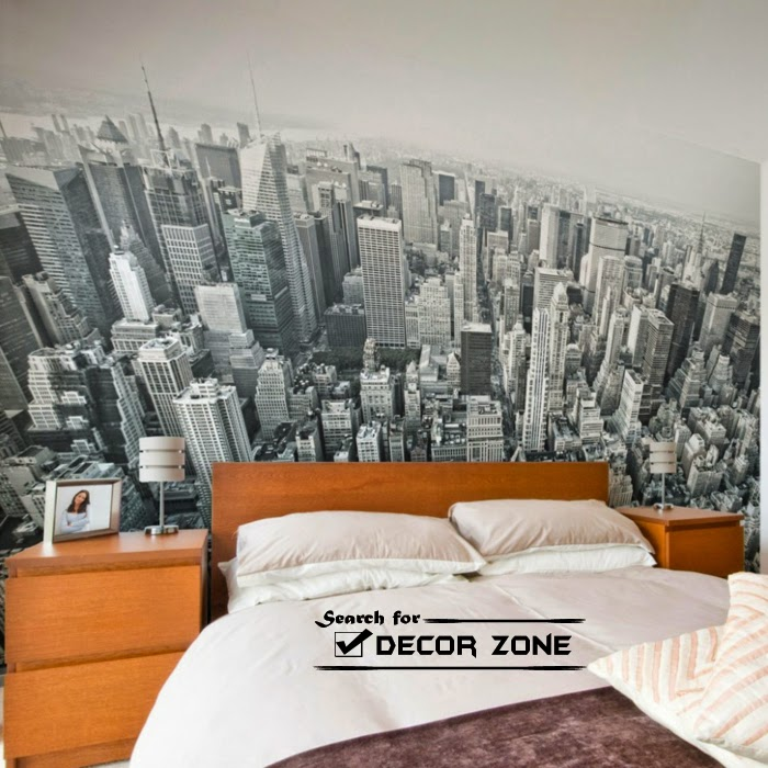 bedroom wall decor ideas my mega city wallpaper - Ideas For Bedroom Wall Decor