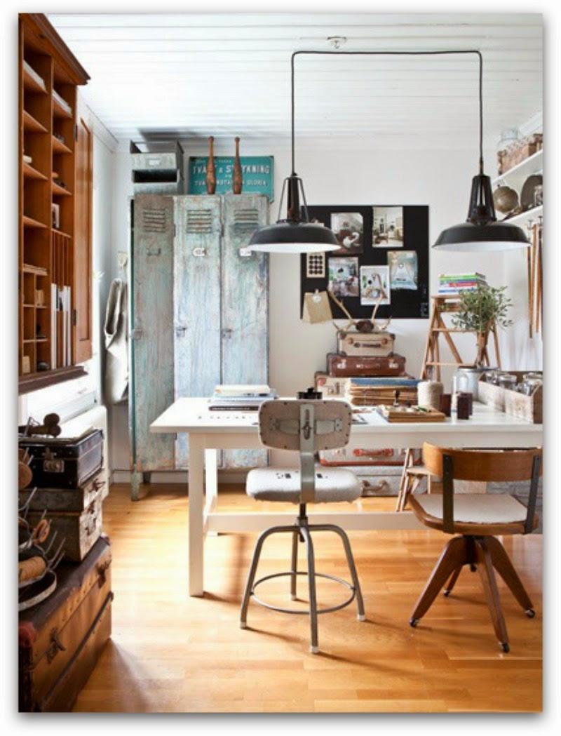 en casa de oly decorar un despacho de estilo industrial