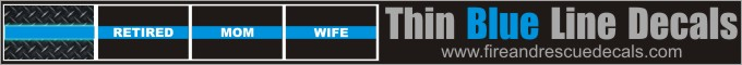 Thin Blue Line Decals at FireandRescueDecals.com