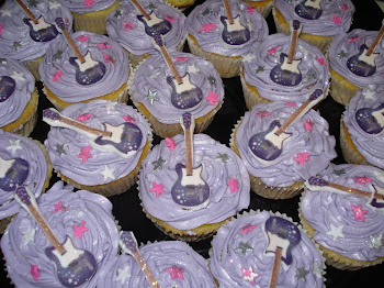 Hannah Montana Guitar Cupcakes