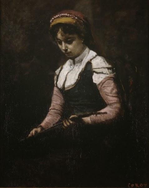 Femme à la Mandoline (Camille Corot, ca. 1865-70)