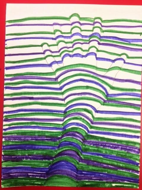 Op Art Line Design Lesson : No corner suns op art with bridget riley free handout