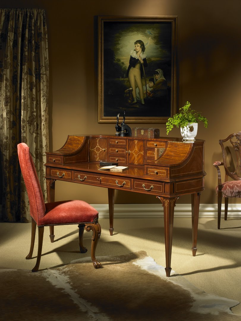 ... Carlton House Style Desks Are The Walls Of Tiny Doors And Drawers  Curling Around The Guys Who Sit At Them. It Feels Very Private And  Personal, ...
