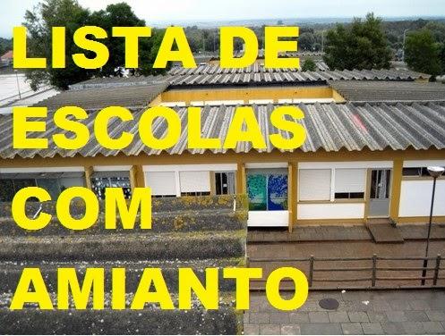 Lista de Escolas com Amianto