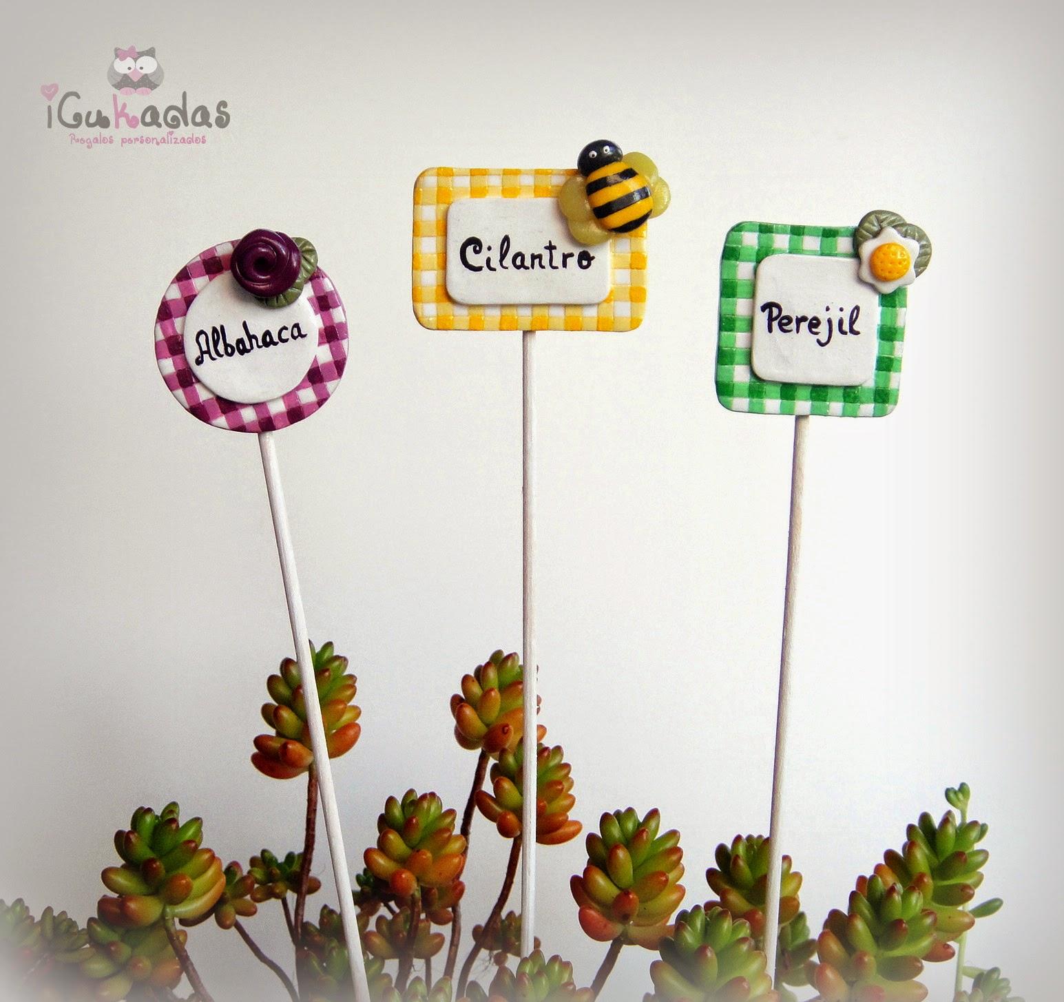 Icukadas carteles para macetas for Como poner plantas en la pared