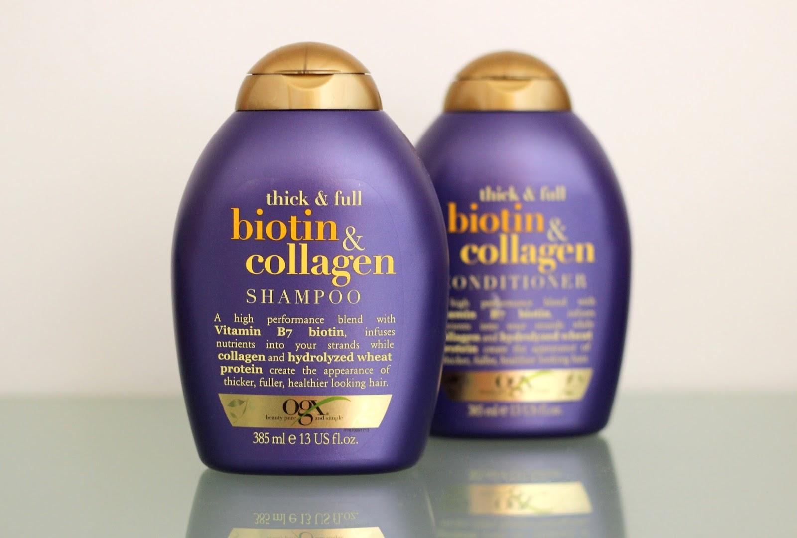 Organix Biotin and Collagen Shampoo and Conditioner