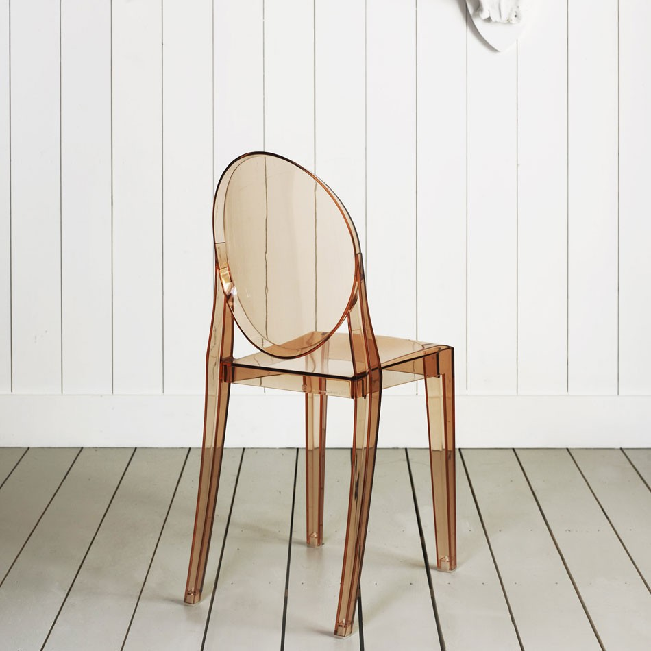 Kartell Victoria Ghost Chair In Transparent Sunset Orange By Philippe  Starck (image Credit Graham U0026 Green)