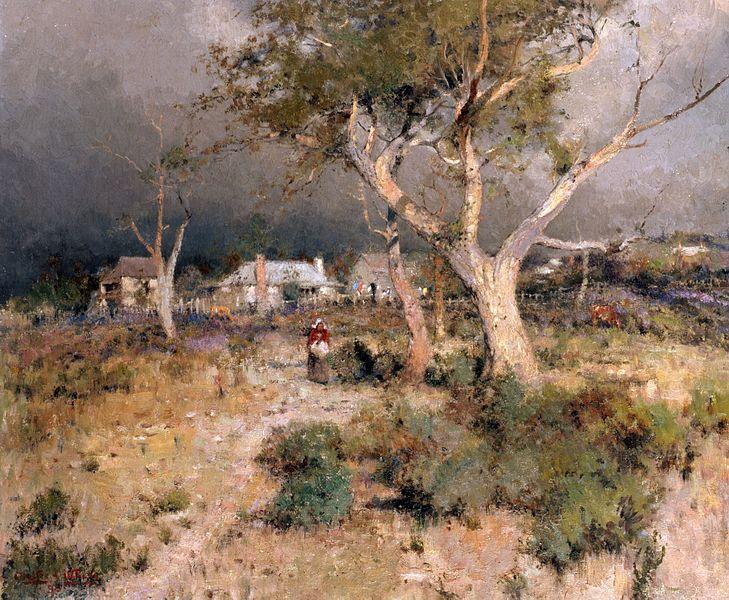 Walter herbert withers 1854 1914 australian landscape for Australian mural artists