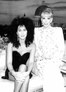 Cher with Joan Rivers