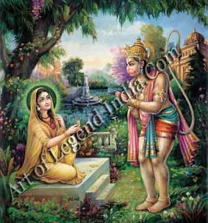 Hanumana Meet with Lord Sita