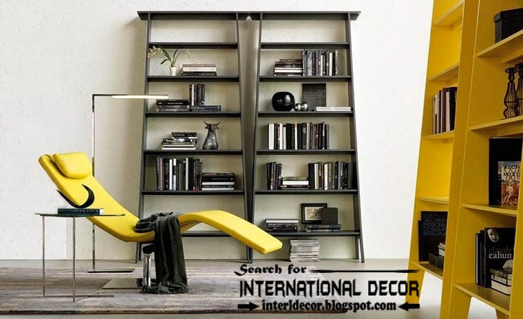 top modern home library design organizing ideas furniture, bookcase with relaxing chair