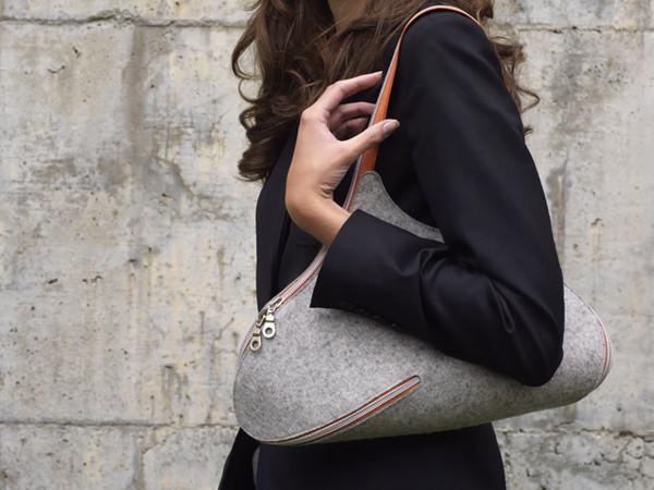 felt, bag, design, bolso, fieltro, cremallera,zipper
