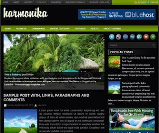 Harmonika-Blogger-Template